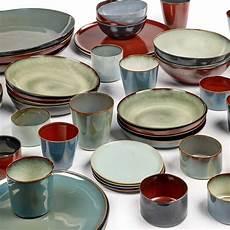 keramik le keramikgeschirr terres de reves dunkelblau