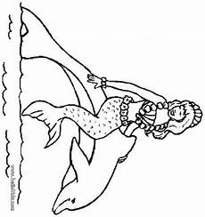 Ausmalbilder Meerjungfrau Mit Seepferdchen Meerjungfrau Mit Seepferdchen Zum Ausmalen Malvorlagen