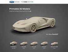 Ford Launches Online 3D Printed Model Car Shop  Print