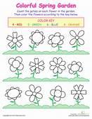 PreK Worksheets Counting Flowers  Prek Pinterest