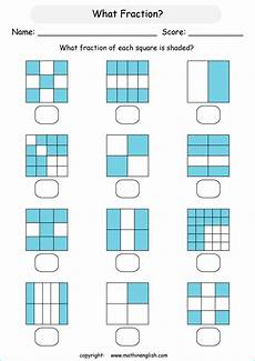 fraction worksheets shaded unshaded 4095 what fraction in each shape is shaded great math class 2 fraction worksheet with fraction