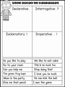 4 types of sentences worksheets first grade fairytales mummy sentences a freebie