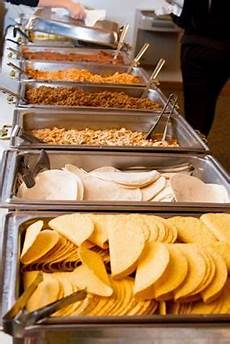 one bride had a fully stocked taco buffet in 2019 wedding buffet food wedding food stations