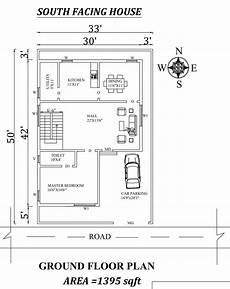 south facing house plans as per vastu 33 x50 south facing ground floor house plan as per vastu