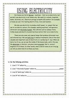 using electricity worksheet free esl printable worksheets made by teachers