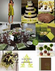 fall wedding theme apple green chocolate brown color palette october wedding colors