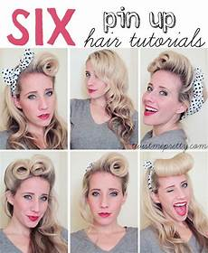 hair pin up on a 6 pin up hair tutorials diy creative ideas 50s