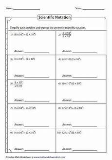 operations with scientific notation worksheet homeschooldressage com