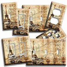 eiffel tower vitage decorative light switch outlet decor cover switch plates