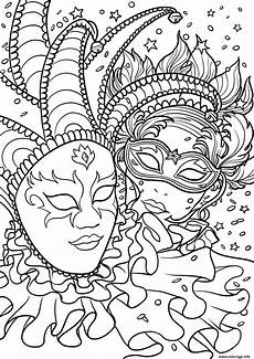 Malvorlagen Faschingsmasken Coloriage Carnaval Masques Dessin