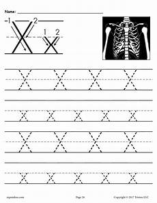 free printable letter x tracing worksheet supplyme