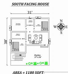 vastu house plans south facing 31 x38 2bhk awesome furnished south facing house plan