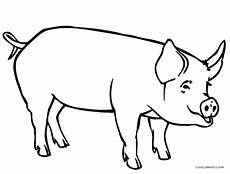 free printable pig coloring pages for