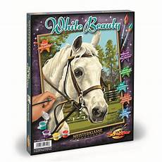 white pferd malen nach zahlen malvorlage 18 49