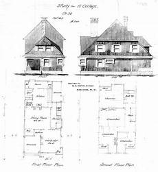 biltmore house plans study for a cottage no 32 front side elevations first