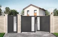 portail aluminium battant 3m50 portail alu gris anthracite battant fpi55 napanonprofits
