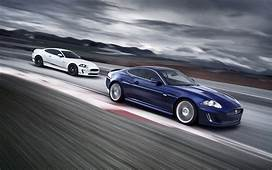 Jaguar XKR Post In Pixel Of 1920&2151200 Two Cars Running