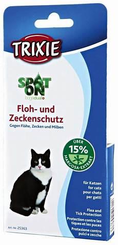 trixie spot on floh und zeckenschutz f 252 r katzen 0 75 ml