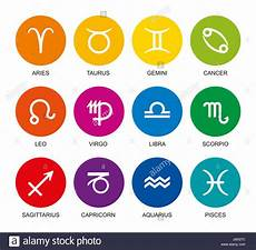 Sternzeichen Und Farben - rainbow colored astrological signs of the zodiac twelve