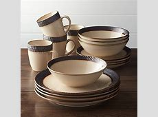 Scavo 16 Piece Dinnerware Set   Reviews   Crate and Barrel