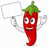 Red Hot Chili Pepper With Blank Banner Stock Vector