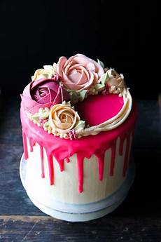 Pink Ombre Drip Cake With Swiss Meringue Buttercream