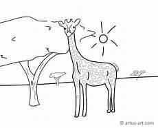 Malvorlagen Giraffen Gratis Giraffen Ausmalbild 187 Gratis Ausdrucken Ausmalen 187 Artus