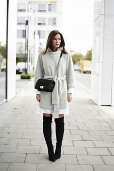 kleid stiefel kombinieren kleid und overknee stiefel trendige kleider f 252 r die