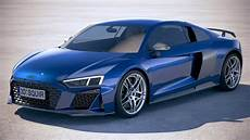 3d audi r8 2019 model turbosquid 1352331