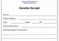 official donation receipt for income tax purposes