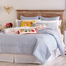 the pioneer woman ticking stripe comforter blue walmart com