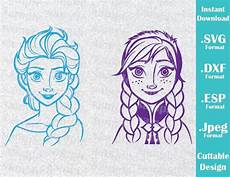 instant svg disney inspired elsa and from