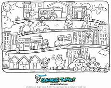 coloring pages places in town 18038 our town coloring page to go with crayon go to town story color crayon pages грамматика