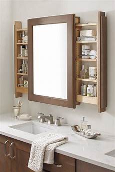 bathroom mirrors with storage ideas the vanity mirror cabinet with side pullouts is a bathroom storage innovation assisting morning