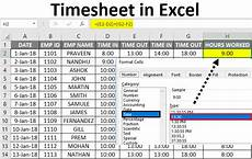timesheet in excel how to create timesheet template in