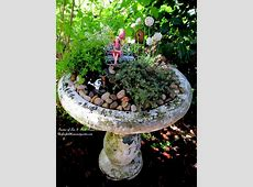 How To Turn Broken Fountains And Bird Baths Into Amazing