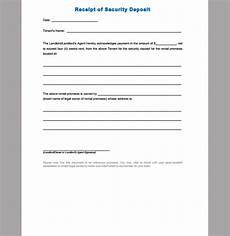 security deposit receipt template receipt template for security deposit format of security