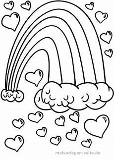 Ausmalbild Regenbogen Fee Malvorlage Regenbogen Herzen Malvorlagen Ausmalbilder
