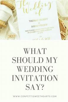 What Wedding Invitations Should Say