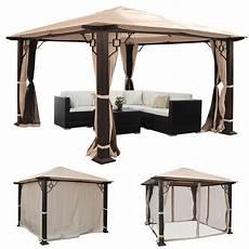 Pergola Mira Garten Pavillon 12cm Luxus Alu Gestell 3