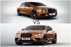 bentley continental gt vs bentley flying spur carwitter