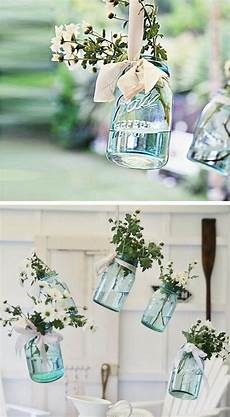 hanging vintage floral jars 15 diy outdoor wedding