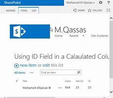 sharepoint list id column use sharepoint id field in calculated column
