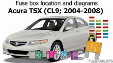 Fuse Box Location And Diagrams Acura Tsx Cl9 2004 2008