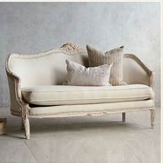 shabby chic sofa vintage pink white oval canape in louis xv style