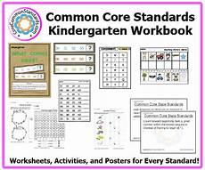 kindergarten common core workbook usb