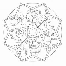 Ausmalbilder Silvester Mandala Lucky Charm Mandala For Pre K Kindergarten And Elementary