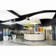 plafond suspendu acoustique faux plafond discontinu acoustique droit ou courbe orcal