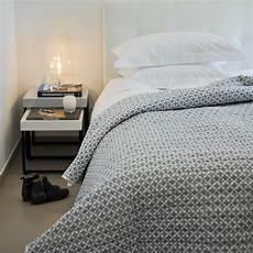 Dessus De Lit Etoiles Gris Blanc Maison D 233 T 233