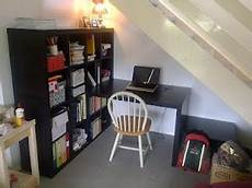 Arbeitszimmer Ikea Expedit - study nook the stairs ikea expedit wall unit and